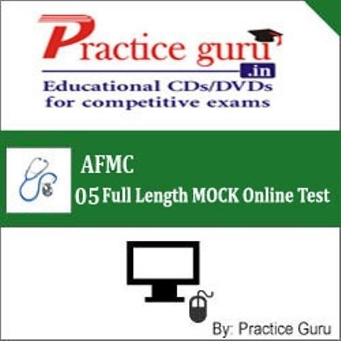 Practice Guru AFMC - 05 Full Length MOCK Online Test(Voucher)