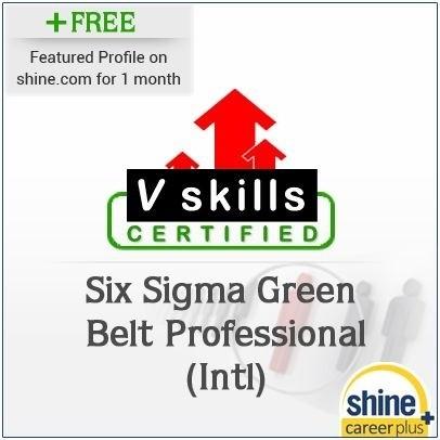 Careerplus V Skills Certified Six Sigma Green Belt Professional (Intl) Certification Course(Voucher)