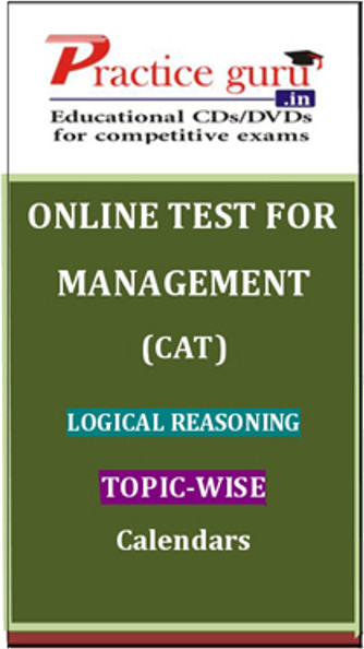 Practice Guru Management (CAT) Logical Reasoning Topic-wise - Calendars Online Test(Voucher)