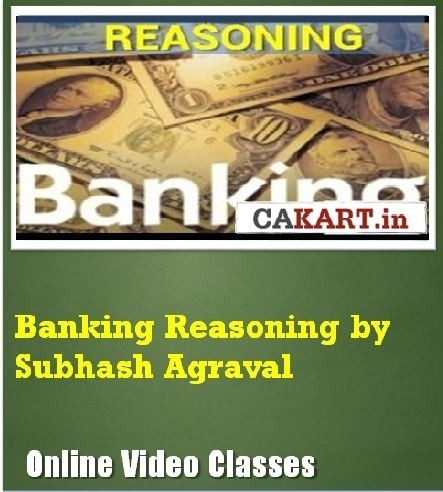 CAKART Banking Reasoning by Subhash Agraval Online Course(Voucher)