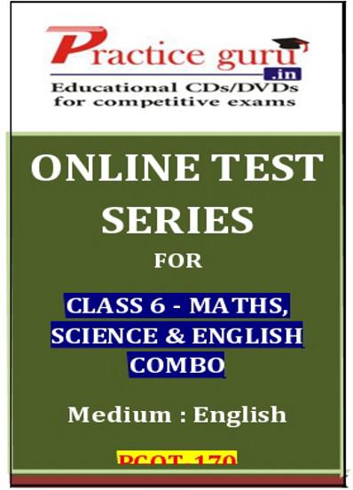 Practice Guru Series for Class 6 - Maths, Science & English Combo Online Test(Voucher)