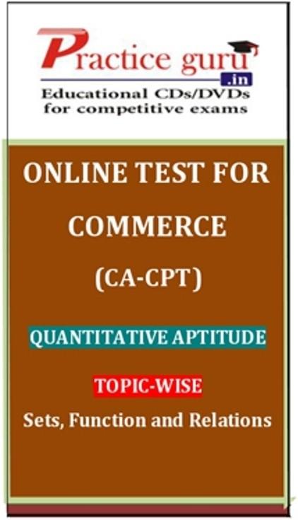 Practice Guru Commerce (CA - CPT) Quantitative Aptitude Topic-wise Sets, Function and Relations Online Test(Voucher)