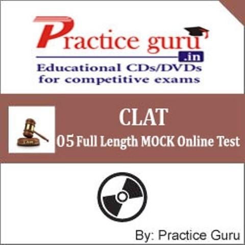 Practice Guru CLAT - 05 Full Length MOCK Online Test(Voucher)