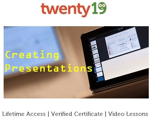 Twenty19 Learn to Create Quality Presentations Certification Course(Voucher)