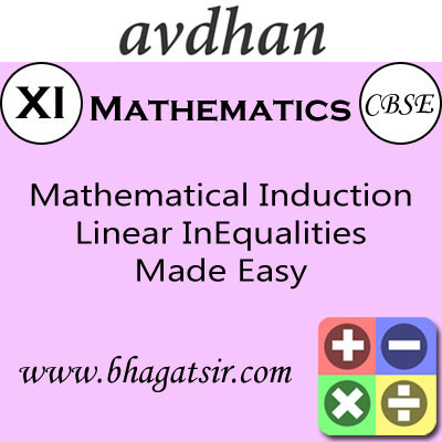 Avdhan CBSE - Mathematics Mathematical Induction Linear InEqualities Made Easy (Class 11) School Course Material(Voucher)