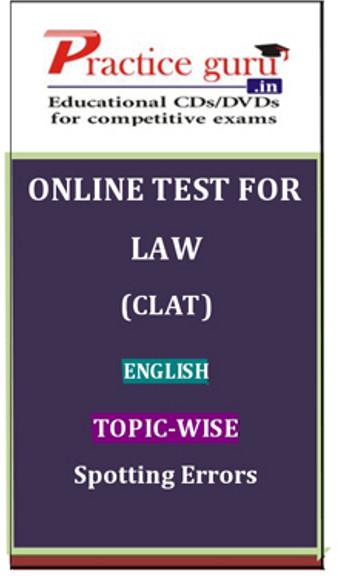 Practice Guru Law (CLAT) English Topic-wise Spotting Errors Online Test(Voucher)