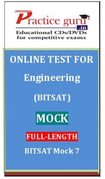 Practice Guru Engineering (BITSAT) Mock Full-length BITSAT Mock 7 Online Test(Voucher)