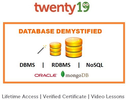 Twenty19 Database Management Systems Certification Course(Voucher)