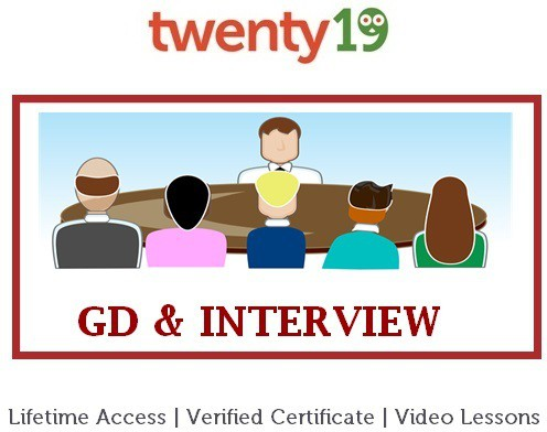 Twenty19 Group Discussion and Interview Certification Course(Voucher)