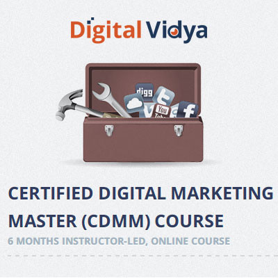 Digital Vidya Certified Digital Marketing Master (CDMM) Course Certification Course(Voucher)