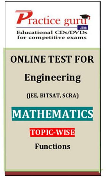 Practice Guru Engineering (JEE, BITSAT, SCRA) Mathematics Topic-wise - Functions Online Test(Voucher)
