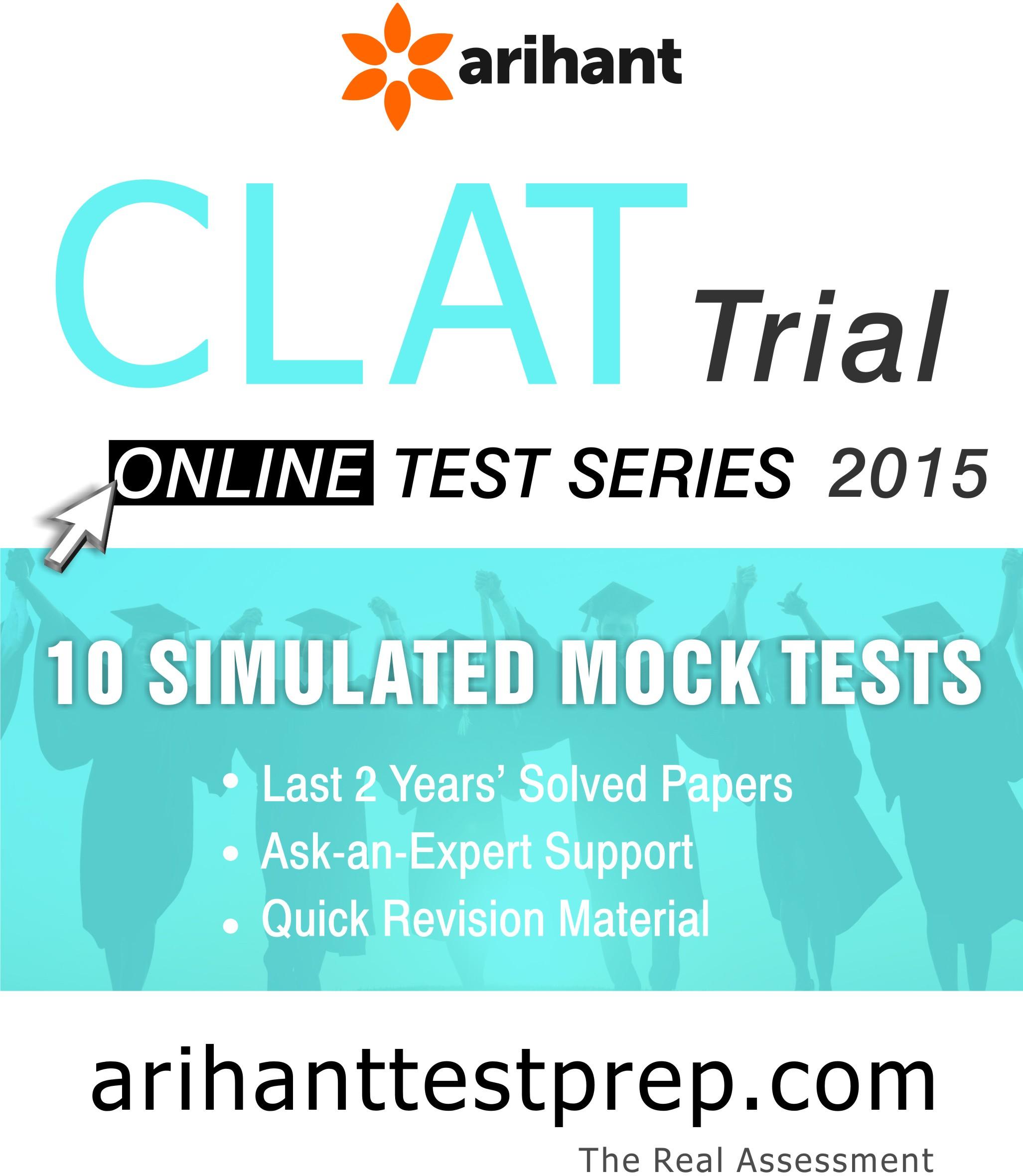Arihant CLAT Test Series Online Test(Voucher)