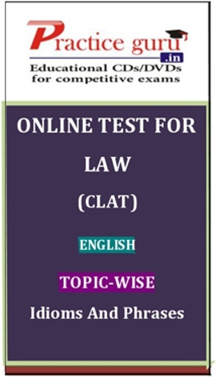 Practice Guru Law (CLAT) English Topic-wise Idioms and Phrases Online Test(Voucher)