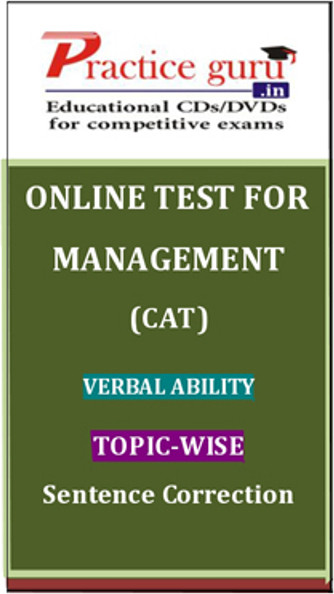 Practice Guru Management (CAT) Verbal Ability Topic-wise - Sentence Correction Online Test(Voucher)