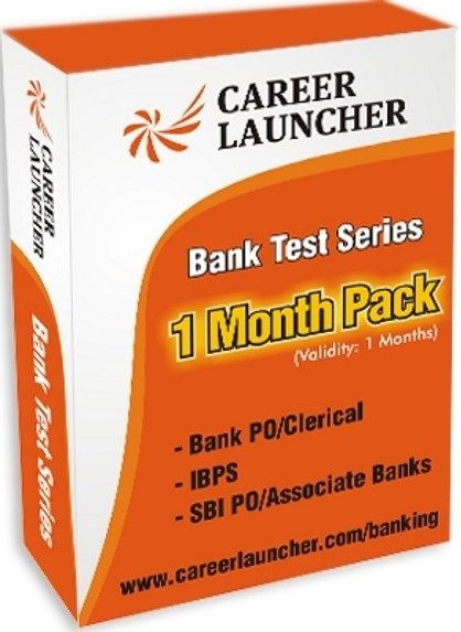 Career Launcher Bank Test Series - 1 Month Pack (Bank PO / Clerical / IBPS / SBI PO / Associate Banks) Online Test(Voucher)