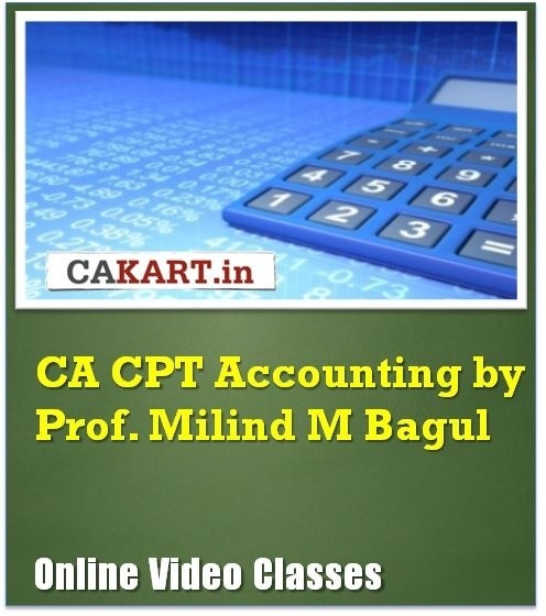 CAKART CA CPT Accounting by Prof. Milind M. Bagul Online Course(Voucher)