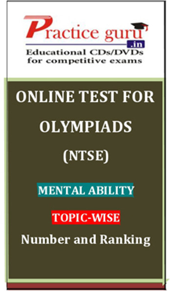 Practice Guru Olympiads (NTSE) Mental Ability Topic-wise Number and Ranking Online Test(Voucher)