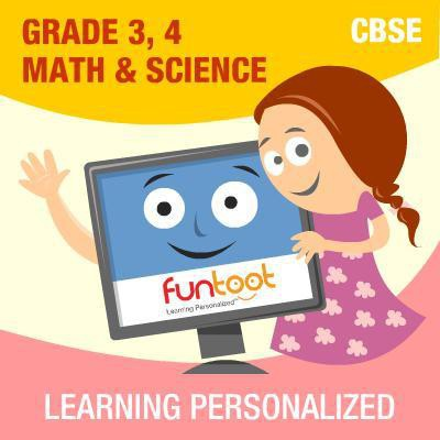 Funtoot CBSE - Grade 3, 4 Maths & Science School Course Material(User ID-Password)