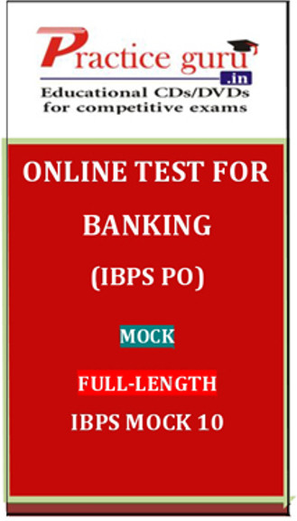 Practice Guru Banking (IBPS PO) Mock Full-length IBPS Mock 10 Online Test(Voucher)