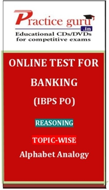 Practice Guru Banking (IBPS PO) Reasoning Topic-wise Alphabet Analogy Online Test(Voucher)
