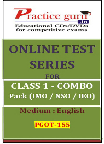 Practice Guru Series for Class 1 - Combo Pack - IMO / NSO / IEO Online Test(Voucher)