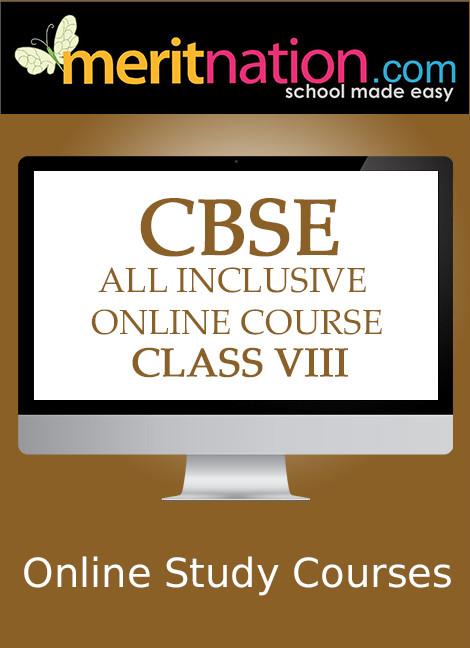 Meritnation CBSE - All Inclusive Online Course (Class 8) School Course Material(Voucher)