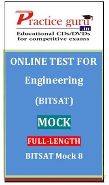 Practice Guru Engineering (BITSAT) Mock Full-length BITSAT Mock 8 Online Test(Voucher)