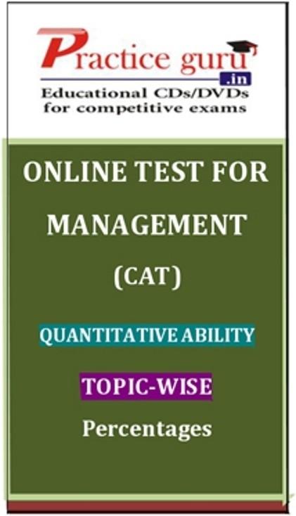 Practice Guru Management (CAT) Quantitative Ability Topic-wise - Percentages Online Test(Voucher)