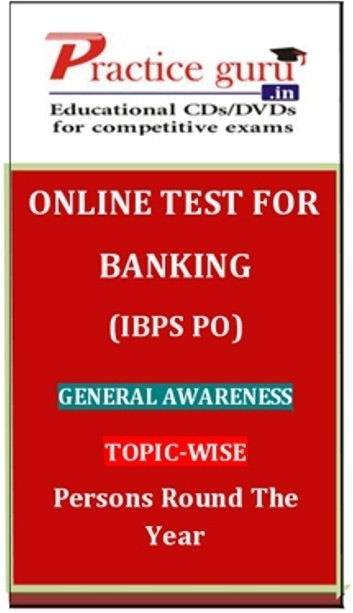 Practice Guru Banking (IBPS PO) General Awareness Topic-wise Persons Round the Year Online Test(Voucher)