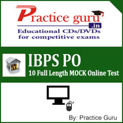 Practice Guru IBPS PO - 10 Full Length MOCK Online Test(Voucher)