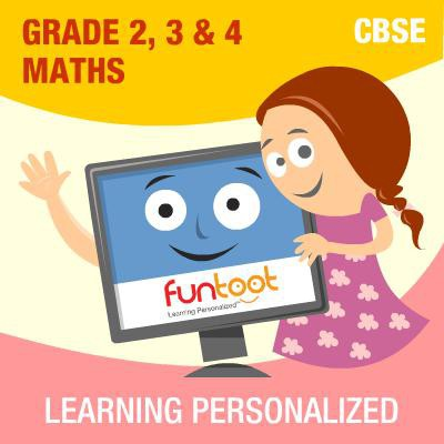 Funtoot CBSE - Grade 2, 3 & 4 Maths School Course Material(User ID-Password)