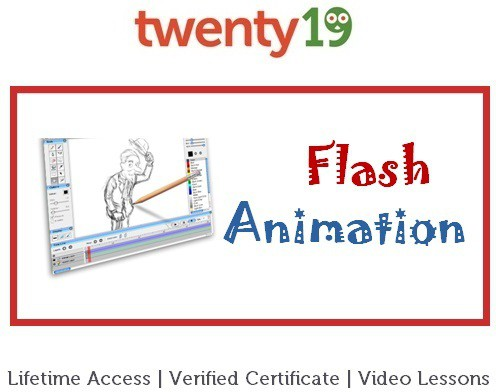 Twenty19 Introduction to Flash Animation Certification Course(Voucher)