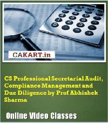 CAKART CS Professional Secretarial Audit, Compliance Management and Due Diligence by Prof. Abhishek Sharma Online Course(Voucher)