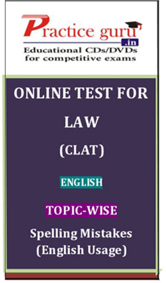 Practice Guru Law (CLAT) Topic-wise Spelling Mistakes (English Usage) Online Test(Voucher)