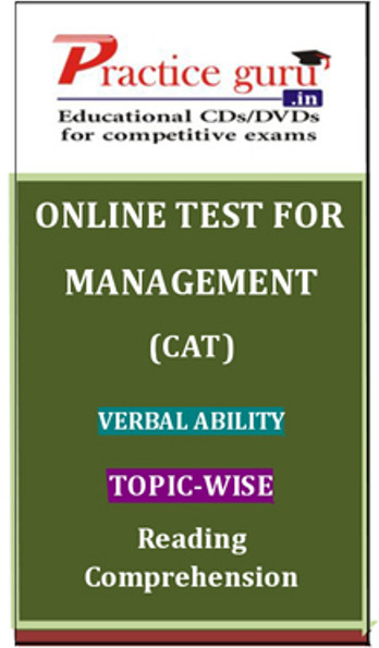 Practice Guru Management (CAT) Verbal Ability Topic-wise Reading Comprehension Online Test(Voucher)
