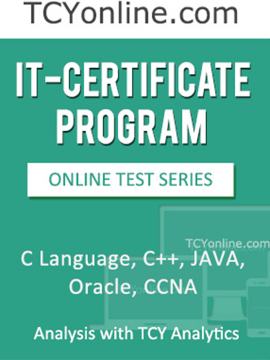 TCYonline IT - Certificate Program (C Language / C++ / Java / Oracle / CCNA) - Analysis with TCY Analytics (12 Months Pack) Online Test(Voucher)