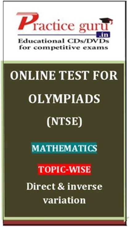 Practice Guru Olympiads (NTSE) Mathematics Topic-wise Direct & inverse variation Online Test(Voucher)