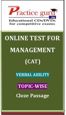Practice Guru Management (CAT) Verbal Ability Topic-wise - Cloze Passage Online Test(Voucher)