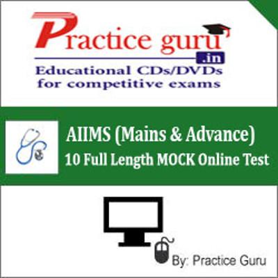 Practice Guru AIIMS (Mains & Advance) - 10 Full Length MOCK Online Test(Voucher)