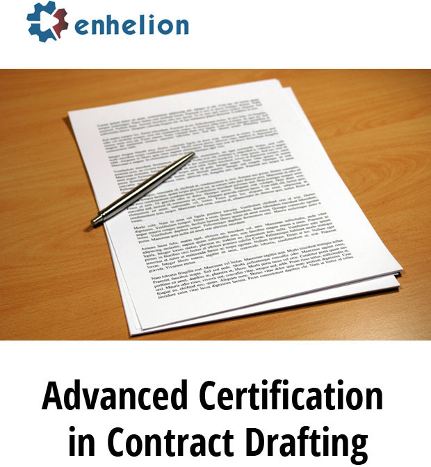 Enhelion Advanced Certification in Contract Drafting Certification Course(Voucher)