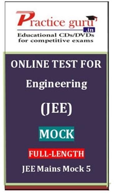 Practice Guru Engineering (JEE) Mock Full - Length JEE Mains Mock 5 Online Test(Voucher)