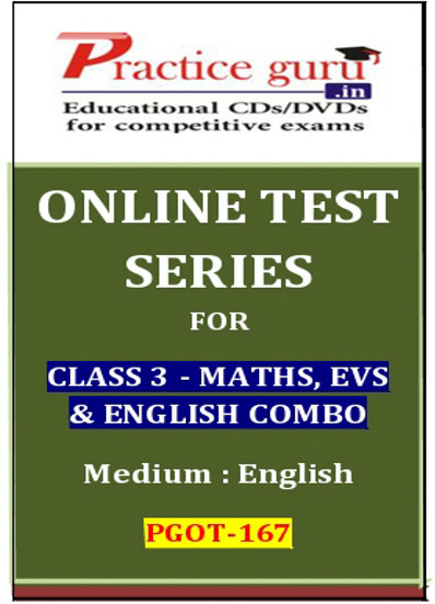 Practice Guru Series for Class 3 - Maths, EVS & English Combo Online Test(Voucher)