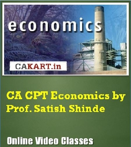 CAKART CA CPT Economics by Prof. Satish Shinde Online Course(Voucher)