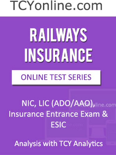 TCYonline Railways Insurance - Analysis with TCY Analytics (9 Months Pack) Online Test(Voucher)