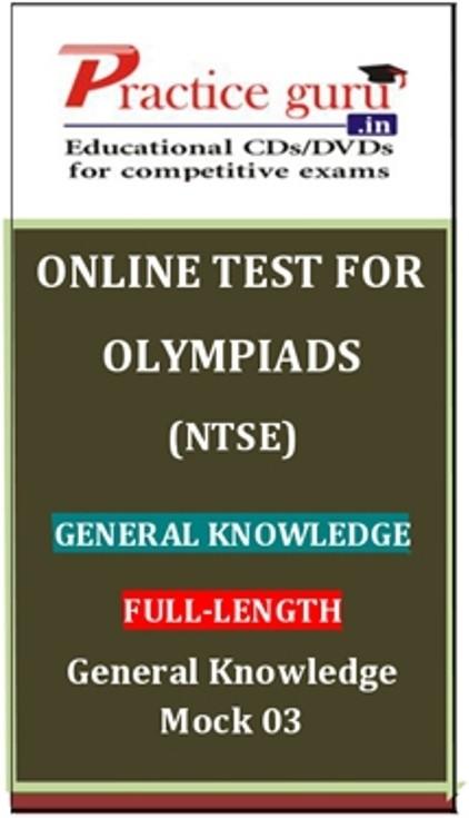 Practice Guru Olympiads (NTSE) Full-length - General Knowledge Mock 03 Online Test(Voucher)