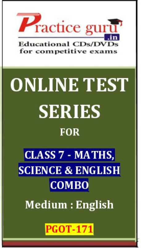 Practice Guru Series for Class 7 - Maths, Science & English Combo Online Test(Voucher)
