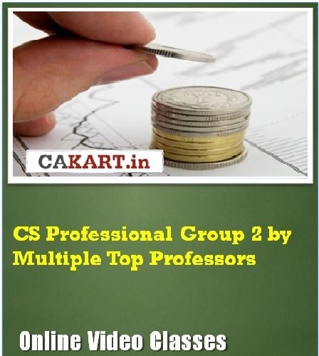 CAKART CS Professional Group 2 by Multiple Top Professors Online Course(Voucher)
