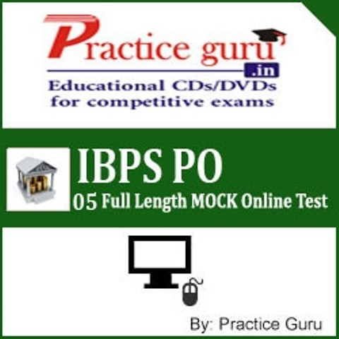 Practice Guru IBPS PO - 05 Full Length MOCK Online Test(Voucher)