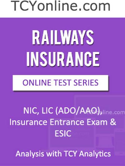 TCYonline Railways Insurance Analysis with TCY Analytics (3 Months Pack) Online Test(Voucher)