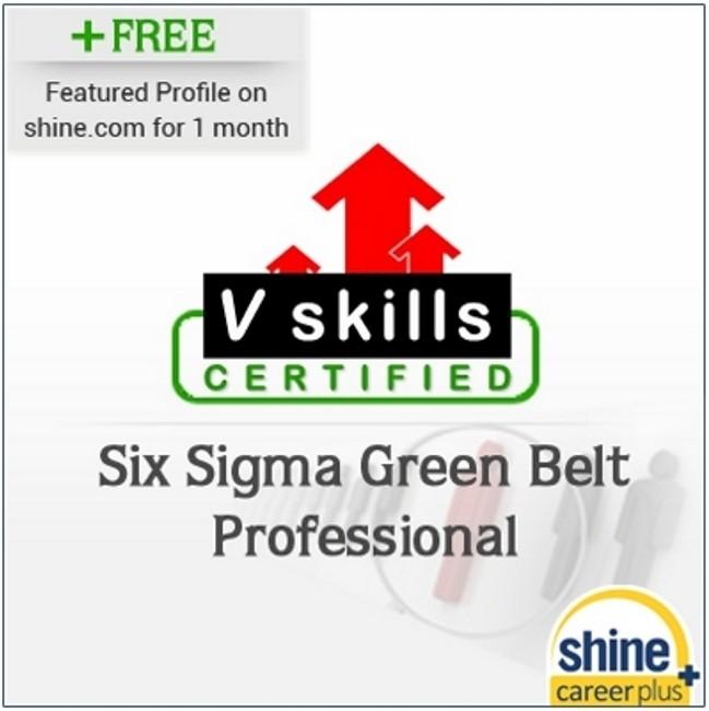 Careerplus V Skills Certified Six Sigma Green Belt Professional Certification Course(Voucher)